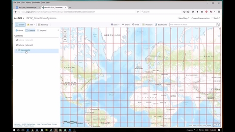 Thumbnail for entry Activity 1, Coordinate Systems: Using ArcGIS Online