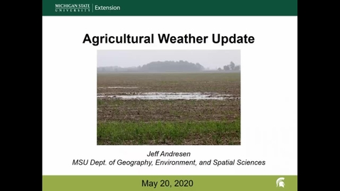 Thumbnail for entry Agricultural weather forecast for May 20, 2020