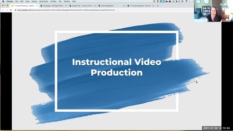 Thumbnail for entry IT Virtual Workshop - Kaltura Mediaspace: Instructional Video Production