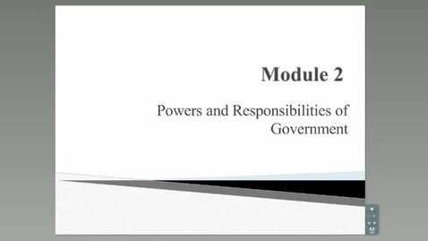Thumbnail for entry Powers and Responsibilites of Government