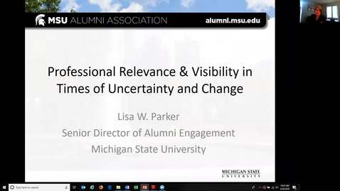 Thumbnail for entry Professional Relevance & Visibility in Times of Uncertainty and Change