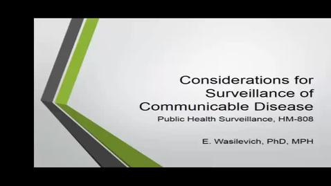 Thumbnail for entry HM808communicablediseasesurviellance