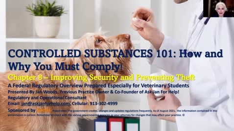 Thumbnail for entry VM 509 Controlled Substances Part 8