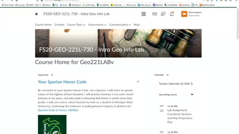 Thumbnail for entry Geo221Lv: How to view your grade and Instructor's feedback in Assessments programmed as D2L Quizzes