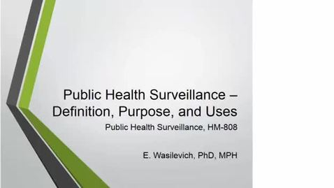 Thumbnail for entry HM808PublicHealthSurveillance