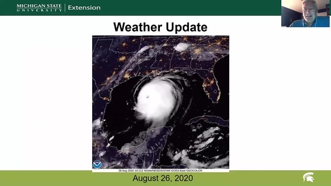 Thumbnail for entry Agricultural weather forecast for August 26, 2020