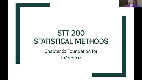Thumbnail for entry STT 200 Intro to Sampling Distributions