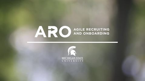 Thumbnail for entry Agile Recruiting and Onboarding (ARO) Project Introduction