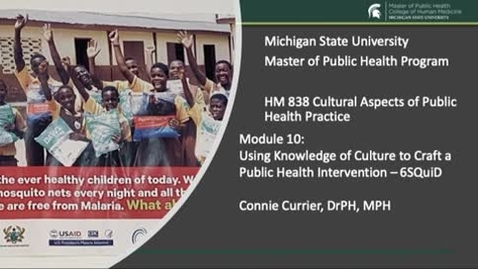 Thumbnail for entry HM 838 Module 10  6SQuID - Steps in Public Health Intervention Development