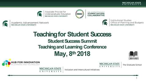 Thumbnail for entry 2018 Teaching and Learning Spring Conference and Student Success Summit Keynote and Panel Discussion