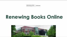 Thumbnail for entry Renewing Library Books