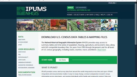 Thumbnail for entry Finding Census Tract data using NHGIS