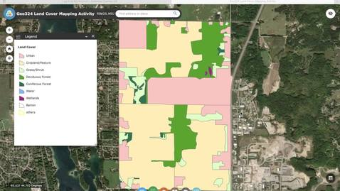 Thumbnail for entry Geo324v: How to Use the Land Cover Mapping Application