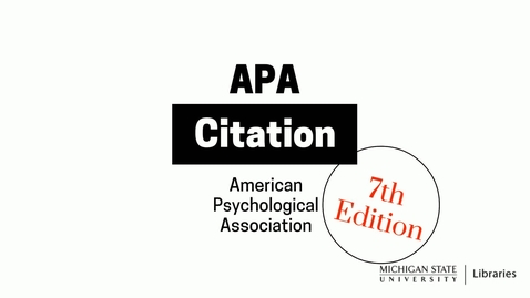 Thumbnail for entry APA Citation (7th Edition)