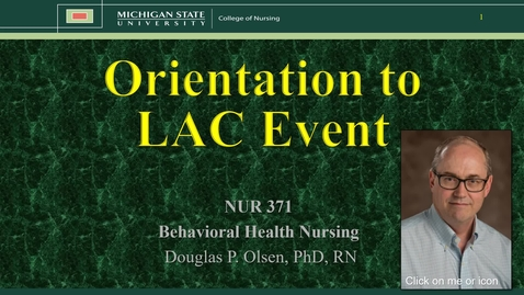 Thumbnail for entry NUR 371 - LAC Orientation