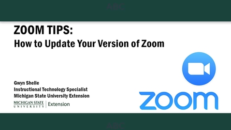 Thumbnail for entry Zoom Tips: How to Update Your Version of Zoom
