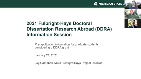 Thumbnail for entry DDRA Info Session - January 2021