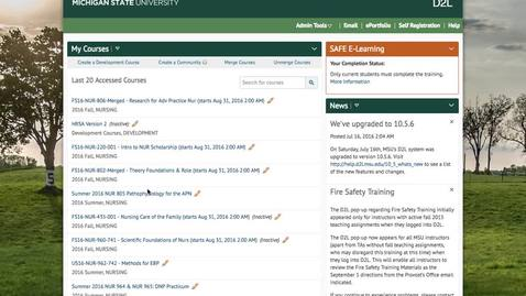 Thumbnail for entry Setting a D2L Course to Active