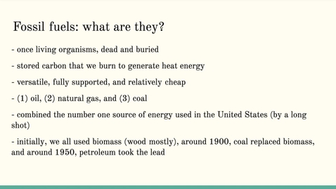 Thumbnail for entry ISS310: Energy: Fossil Fuel Basics