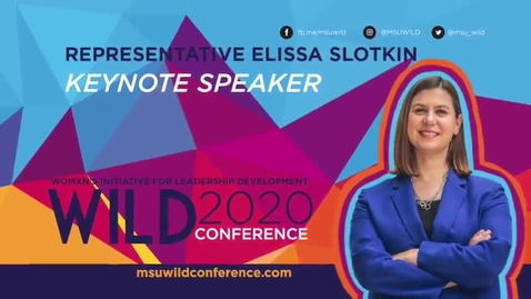 Thumbnail for entry WILD KEYNOTE: Representative Elissa Slotkin