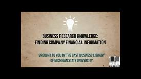 Thumbnail for entry Finding Company Financial Information