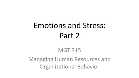 Thumbnail for entry 11.Emotions and Stress.Part 2