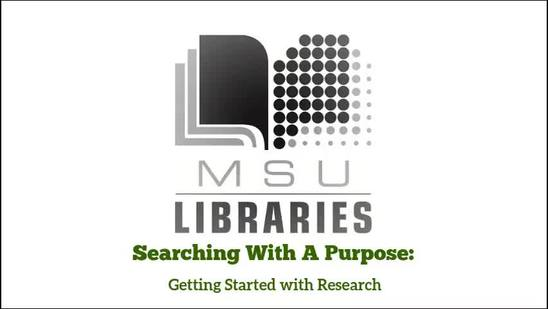 Video thumbnail for Searching With A Purpose
