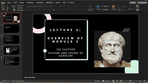 Thumbnail for entry Lecture 3  - Overview of Module 3