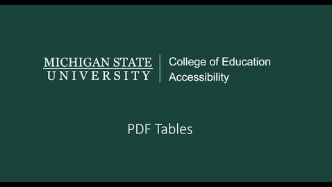 Thumbnail for entry PDF Tables Video Tutorial