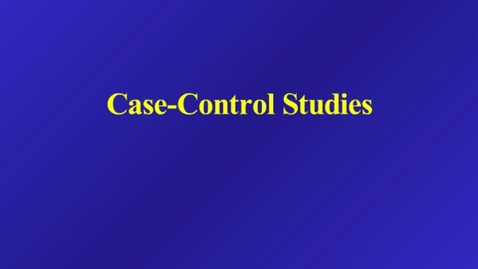 Thumbnail for entry HM803 sec730 CaseControl