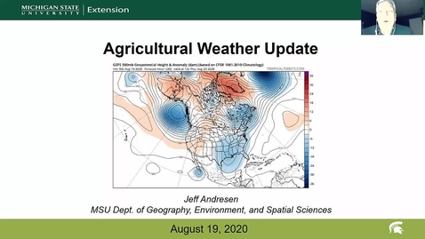 Thumbnail for entry Agricultural weather forecast for August 19, 2020