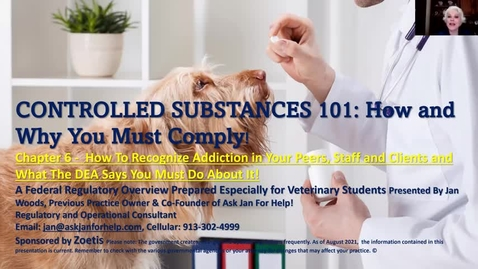 Thumbnail for entry VM 509 Controlled Substances Part 6