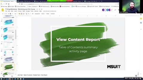 Thumbnail for entry Monitoring Your D2L Course: View Content Report