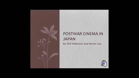 Thumbnail for entry Postwar Cinema in Japan