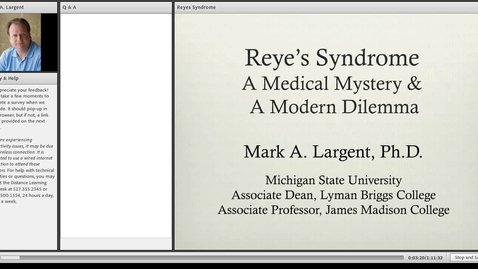 Thumbnail for entry Reye's Syndrome: A Medical Mystery and a Modern Dilemma