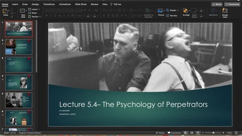 Thumbnail for entry Lecture 5.4 - Part 1
