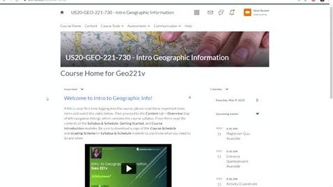 Thumbnail for entry Geo 221-v: Where course materials are located