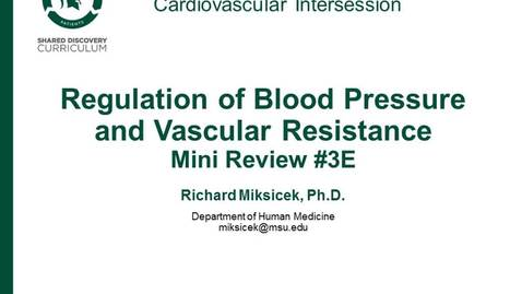 Thumbnail for entry CPR Intersession: Regulation of Blood Pressure and Vascular Resistance