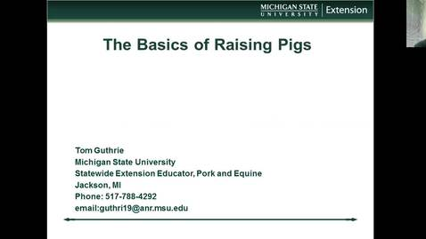Thumbnail for entry The basics of raising pigs