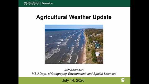 Thumbnail for entry Agricultural weather forecast for July 14, 2020