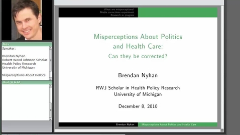 Thumbnail for entry Misperceptions about Politics and Health Care: Can They be Corrected?