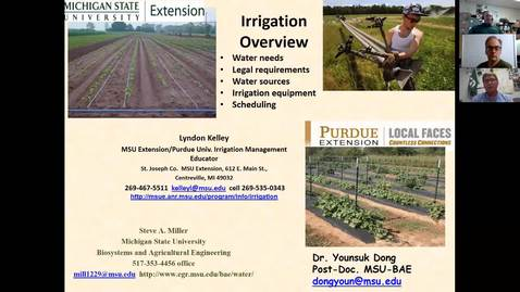 Thumbnail for entry Hemp Webinar - Irrigation