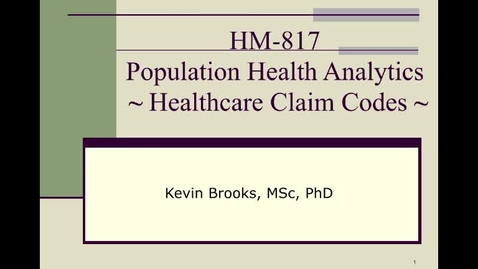 Thumbnail for entry HM817 HealthcareClaimCodes