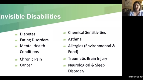 Thumbnail for entry IT Virtual Workshop - The Types of Disabilities that Affect MSU Students (07.08.21)