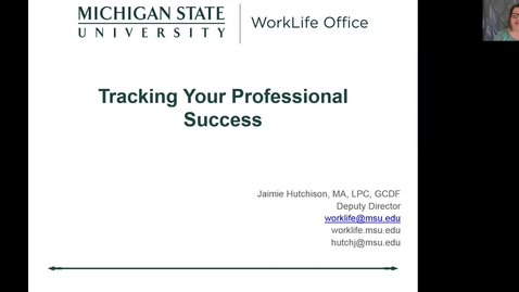 Thumbnail for entry Tracking Your Professional Success