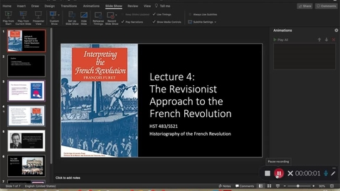 Thumbnail for entry Lecture 4 - Revisionist Approach to the Revolution