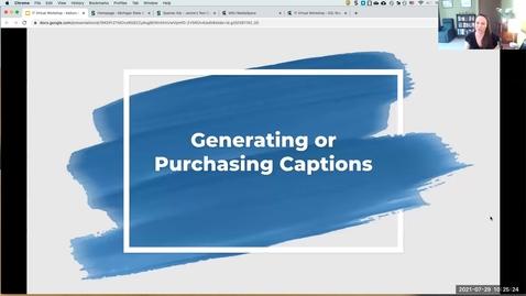 Thumbnail for entry IT Virtual Workshop - Kaltura Mediaspace: Generating or Purchasing Captions