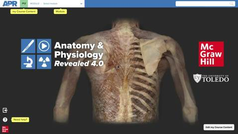 Thumbnail for entry Anatomy & Physiology Revealed 4.0  General Tour Help Video