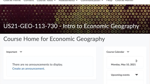 Thumbnail for entry GEO113: Your course website
