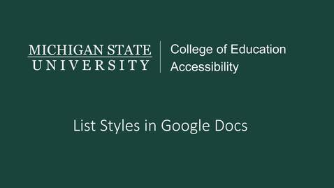 Thumbnail for entry Google Docs List Styles Tutorial